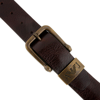 Armani Jeans chocolate brown leather casual belt P6104 UH AJM1426