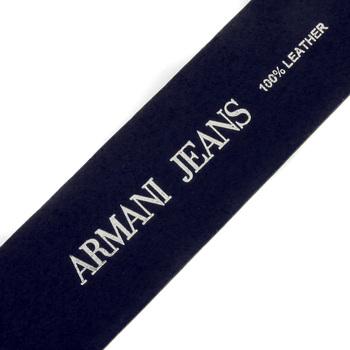 Armani Jeans dark navy leather casual belt P6115 UK AJM1429