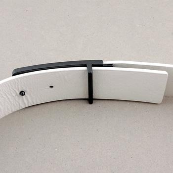 Armani Jeans elk white casual leather belt P6115 UK AJM1430
