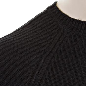 Thug or Angel Men's Jet Black collection  black crew neck knitted jumper. JBLK3913
