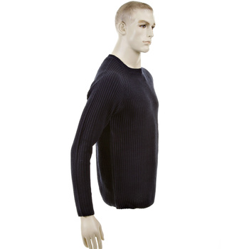Thug or Angel Sweater Men's Jet Black collection dark navy crew neck knitted jumper. JBLK3914