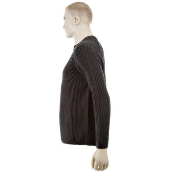 Thug or Angel Men's Jet Black collection charcoal crew neck knitted jumper. JBLK3918