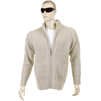 Thug or Angel Sweater Men's Jet Black collection stone full zip ribbed knit cardigan. JBLK3933