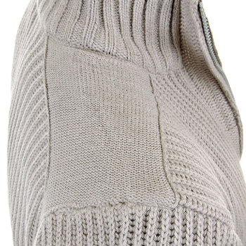 Thug or Angel Sweater Men's Jet Black collection grey full zip ribbed knit cardigan. JBLK3934