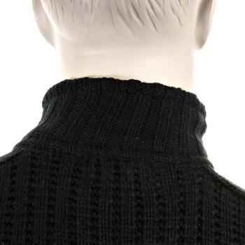 Thug or Angel Sweater Men's Jet Black collection black ribbed zip up cardigan. JBLK3935
