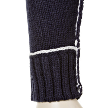 Thug or Angel Men's Jet Black collection knitted navy hooded zip-up cardigan. JBLK3950