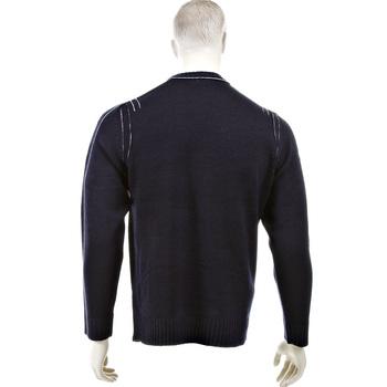 Thug or Angel Sweater Men's Jet Black collection dark navy crew neck knitted jumper. JBLK3954