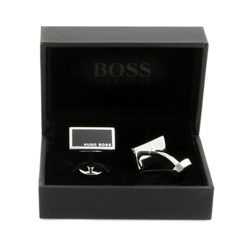 Hugo Boss Cufflinks camilo black logo 50199543 BOSS1684
