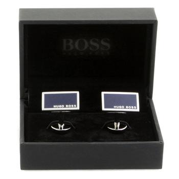 Hugo Boss Cufflinks camilo navy blue logo 50199543 BOSS1683