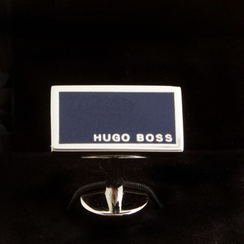 Hugo Boss Cufflinks camilo navy blue logo 50199543 BOSS1683