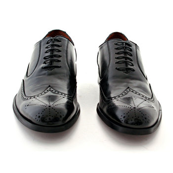 NOHARM Shoes Vegan new Pheonix G2346 Black Brogue shoe NOHR0841