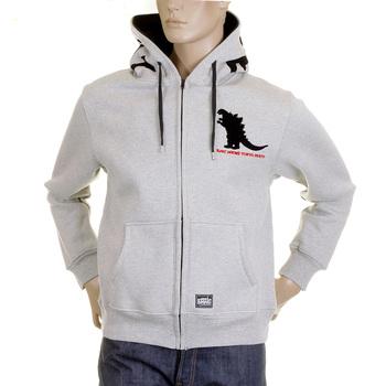 RMC MKWS sweatshirt marl grey godzilla hooded top REDM2326