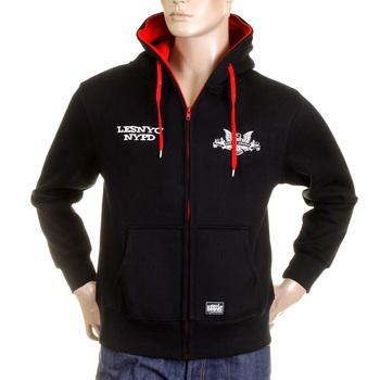 RMC MKWS Mens Regular Fit Hooded Kelly Green NYPD USA Eagle Printed Zip Up Sweatshirt REDM2334