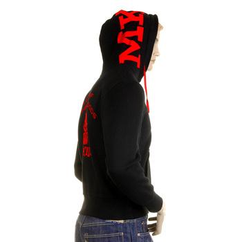 RMC Martin Ksohoh MKWS Empire Monkey Flock Printed Black Hooded Zipped Regular Fit Sweatshirt REDM2329