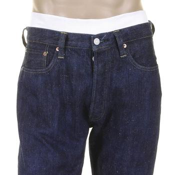 Sugar Cane Mens Vintage Cut SC40401A Double Ring-Spun Hawaiian Cotton  One Wash Denim Jeans in Navy CANE2029