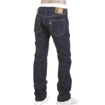 Sugarcane Slimmer Cut One Wash SC40724A Japanese Selvedge Denim Navy Jeans for Men CANE2279