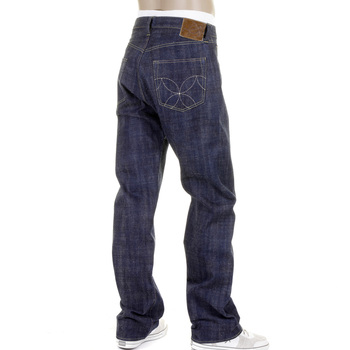 Sugarcane Mens Navy Vintage Cut SC40401N Raw Japanese Selvedge Non Wash Hawaii Denim Jeans CANE2087