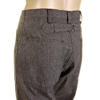 Sugarcane Mens SC40942 Loose Fit Cotton Charcoal Grey Black Vintage Cut Covert Engineer Pants CANE0247