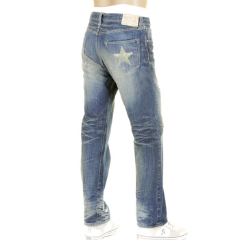 Sugarcane Mens SC40901R Japanese Selvedge Denim Lone Star Jeans with Vintage Cut and Finish CANE2105
