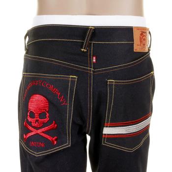 RMC Martin Ksohoh Cotton MKWS Model 1001 Mens Slim Cut Dark Indigo Raw Denim Jeans REDM1155