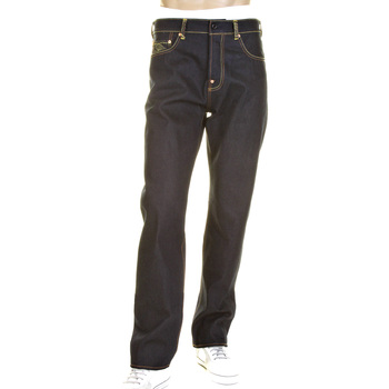 RMC Model 1001 Slimmer Cut Charcoal Tsunami Wave and Logo Dark Indigo Selvedge Raw Denim Jeans REDM0238