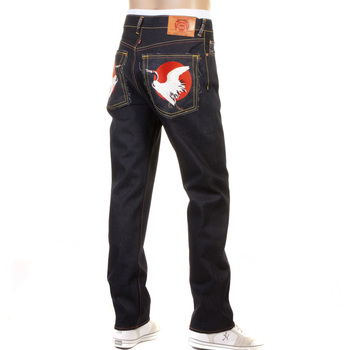 RMC Martin Ksohoh Slim Cut 1001 Dark Indigo RQP11058 Happiness Embroidered Raw Selvedge Denim Jeans REDM0466