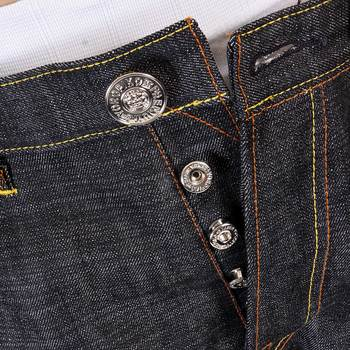 RMC Martin Ksohoh Exclusive Black Slimmer Cut 1001 Flying Tiger Selvedge Raw Denim Jeans REDM0243