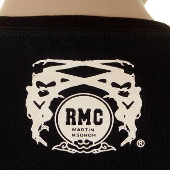 RMC Martin Ksohoh Poker Playing Skull Card Crew Neck Regular Fit Black Short Sleeve T Shirt REDM1165