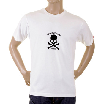 RMC Martin Ksohoh white with flocked black skull T-shirt REDM2122