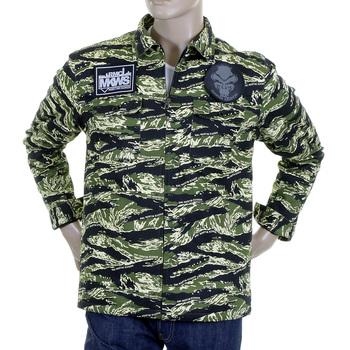 RMC Martin Ksohoh Mens Tiger Camo Green Zip Up Regular Fit Field Jacket REDM2358