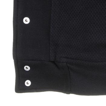 RMC Martin Ksohoh Workshop Regular Fit Cotton Black Baseball Jacket with Press Stud Closure for Men REDM5835