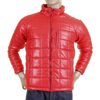 RMC Martin Ksohoh Nylon Zip Up Down Filled RQJ1088 Regular Fit Mens Quilted Jacket in Red REDM5838