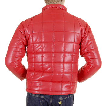 RMC Martin Ksohoh Red Nylon Zip Up RQJ1088 Down Filled Regular Fit Quilted Jacket for Men REDM5838