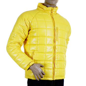 RMC Martin Ksohoh Yellow Nylon Zip Up Down Filled RQJ1088 Regular Fit Quilted Jacket for Men REDM5839