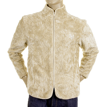 RMC Martin Ksohoh Polyester Faux Fur Beige Regular Fit High Collared Jacket REDM2816