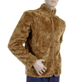 RMC Martin Ksohoh Faux Fur Brown Regular Fit High Collared Jacket REDM2817