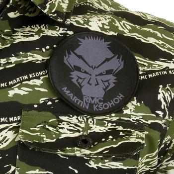 RMC Martin Ksohoh Mens RQZ1085 Green Tiger Camo Regular Fit Zip Up Field Jacket REDM2358A