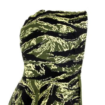 RMC Jeasn Mens RQZ1087 Green Tiger Camo Regular Fit Zip Up Hooded Jacket REDM2305