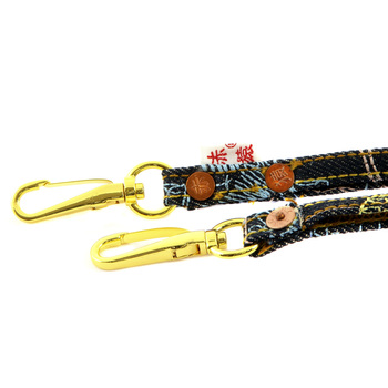 RMC Denim and Embroidered RQA11005 Toyo Lanyard Key Chain With Hand Crafted Wooden Presentation Box REDM0484
