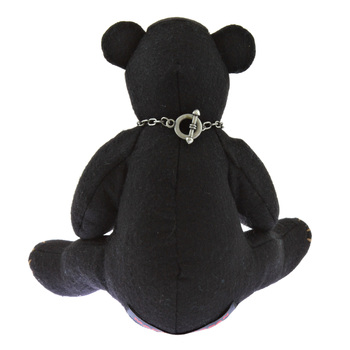 Yoropiko x Unlimitedsifr Toy Collectors Limited Edition RQA11052 Skull Mask Black Teddy Bear REDM0472