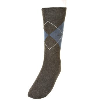 Hugo Boss Argyle charcoal socks 50204546 BOSS2524