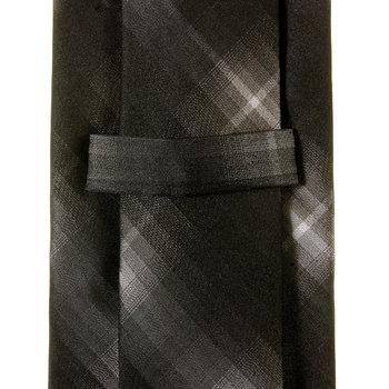Hugo Boss Tie black silk striped tie 50209939 BOSS2448