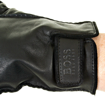 Hugo Boss Gloves black leather 50211301 KRANTO BOSS2516