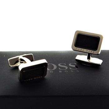 Hugo Boss Cufflinks black enamel logo cufflinks 50211083 BOSS2508