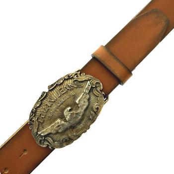 Armani Jeans dark tan casual leather belt Q6123 81 AJM2259