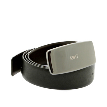 Armani Jeans fully reversable black and dark chocolate brown leather belt Q6107 63 AJM2254