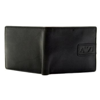 Armani Jeans black leather wallet Q6V25 85 AJM2411