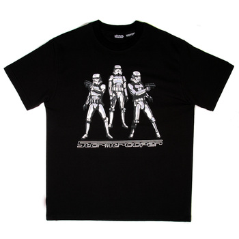 RMC Jeans X Headstone Collectors Item Stormtroopers Printed Black Regular Fit Crewneck T-Shirt HEAD3773