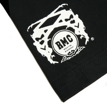 RMC Jeans x Yoropiko Limited Edition Collectors Item Black Crew Neck Regular Fit White Seleven T Shirt YORO3779
