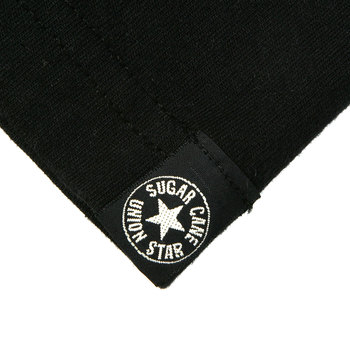Sugar Cane Mens SC73438 Tubular Knit Regular Fit Black Crew Neck T-Shirt CANE9032